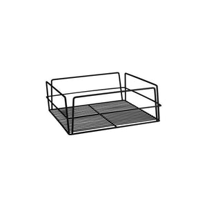30607-BK Square Glass Basket - Black PVC Coated Globe Importers Adelaide Hospitality Supplies