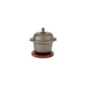 41041 Garlic Prawn Pot - Cast Iron, Rectangular Wood Base Globe Importers Adelaide Hospitality Suppliers