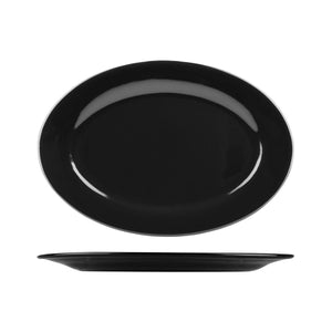 486-BLK Long Fine Classicware Oval Plate Wide Rim Globe Importers Adelaide Hospitality Supplies