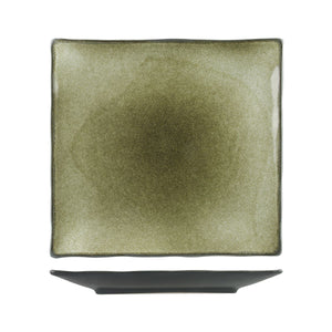 6608 Long Fine Uniq Green Grey Square Coupe Plate Globe Importers Adelaide Hospitality Supplies