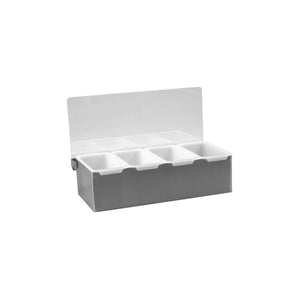 70834 Condiment Dispenser Stainless Steel - 4 Compartment Globe Importers Adelaide Hospitality Suppliers