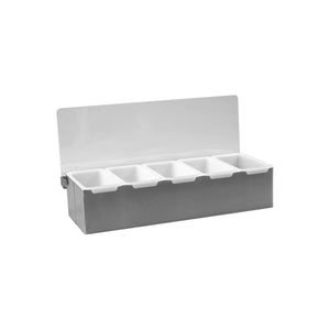 70835 Condiment Dispenser Stainless Steel - 5 Compartment Globe Importers Adelaide Hospitality Suppliers