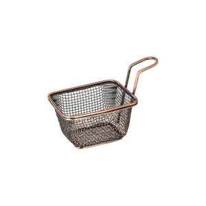 73710-AC Moda Brooklyn Rectangular Service Basket - Antique Copper Globe Importers Adelaide Hospitality Suppliers