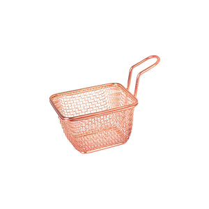 73710-CP Moda Brooklyn Rectangular Service Basket - Copper Globe Importers Adelaide Hospitality Suppliers