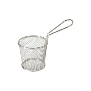 73712 Moda Brooklyn Round Service Basket With Handle - Stainless Steel Globe Importers Adelaide Hospitality Suppliers