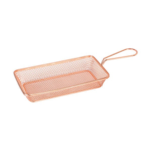 73720-CP Moda Brooklyn Rectangular Service Basket - Copper Globe Importers Adelaide Hospitality Suppliers