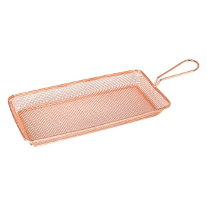73730-CP Moda Brooklyn Rectangular Service Basket - Copper Globe Importers Adelaide Hospitality Suppliers