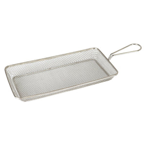 73730 Moda Brooklyn Rectangular Service Basket - Stainless Steel Globe Importers Adelaide Hospitality Suppliers