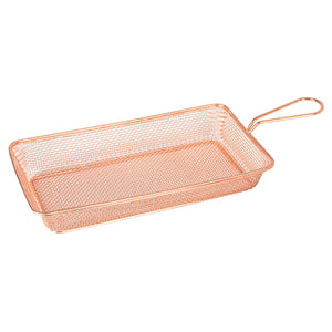 73731-CP Moda Brooklyn Rectangular Service Basket - Copper Globe Importers Adelaide Hospitality Suppliers