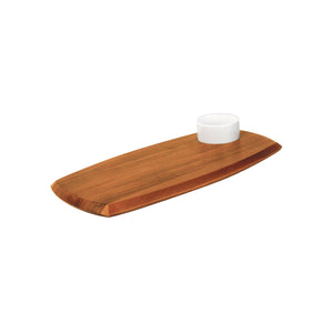 74805 Athena Serving Board With Sauce Dish - Acacia Wood