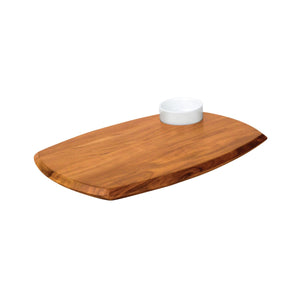 74810 Athena Serving Board With Sauce Dish - Acacia Wood