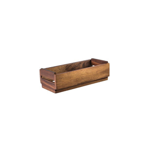 76740 Moda Brooklyn Mini Crate Acacia Wood Globe Importers Adelaide Hospitality Suppliers