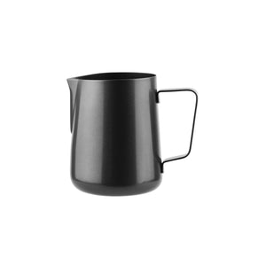 79381-BK Water / Milk Frothing Jug Black Regular Handle Globe Importers Adelaide Hospitality Suppliers