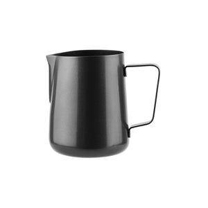 79382-BK Water / Milk Frothing Jug Black Regular Handle Globe Importers Adelaide Hospitality Suppliers