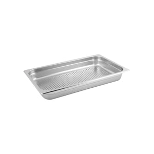 885107 1/1 Size Perforated Steam Pan Stainless Steel Globe Importers Adelaide Hospitality Supplies