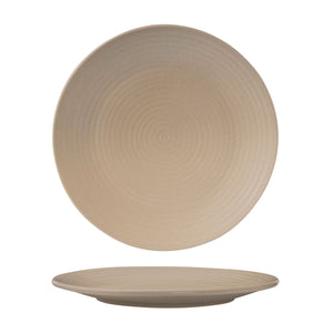 SAND ROUND RIBBED PLATE