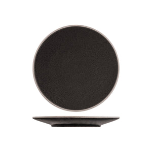 908710 Tablekraft Soho Speckle Black Round Plate Globe Importers Adelaide Hospitality Supplies