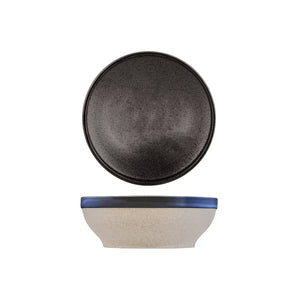 908715 Tablekraft Soho Speckle Black Round Bowl Flared Globe Importers Adelaide Hospitality Supplies