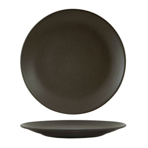 CHARCOAL ROUND COUPE PLATE