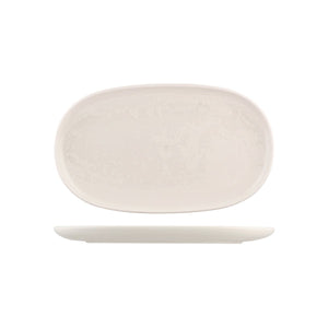 926544 Moda Porcelain Snow Oval Coupe Plate Globe Importers Adelaide Hospitality Supplies