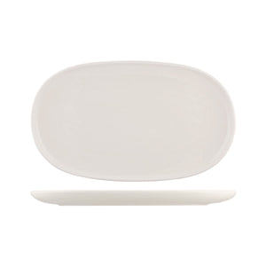 926546 Moda Porcelain Snow Oval Coupe Plate Globe Importers Adelaide Hospitality Supplies