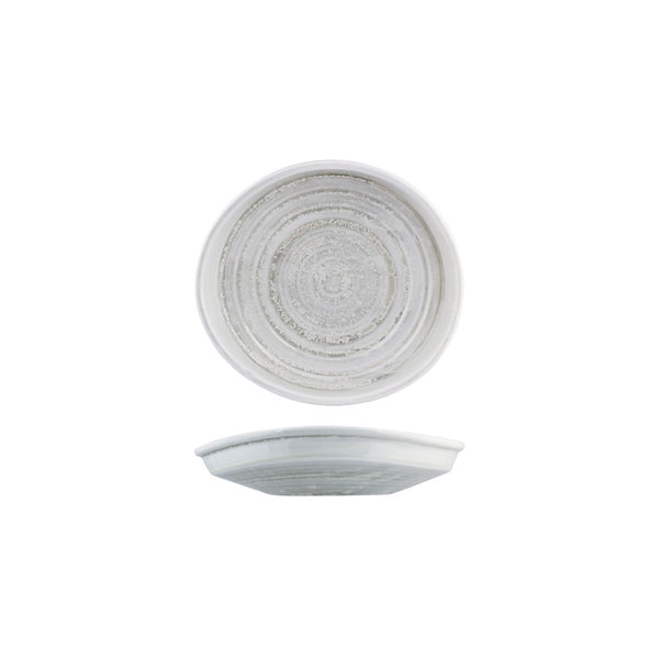 926732 Moda Porcelain Willow Irregular Plate Globe Importers Adelaide Hospitality Supplies