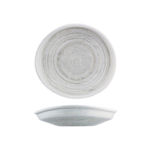 926736 Moda Porcelain Willow Irregular Plate Globe Importers Adelaide Hospitality Supplies