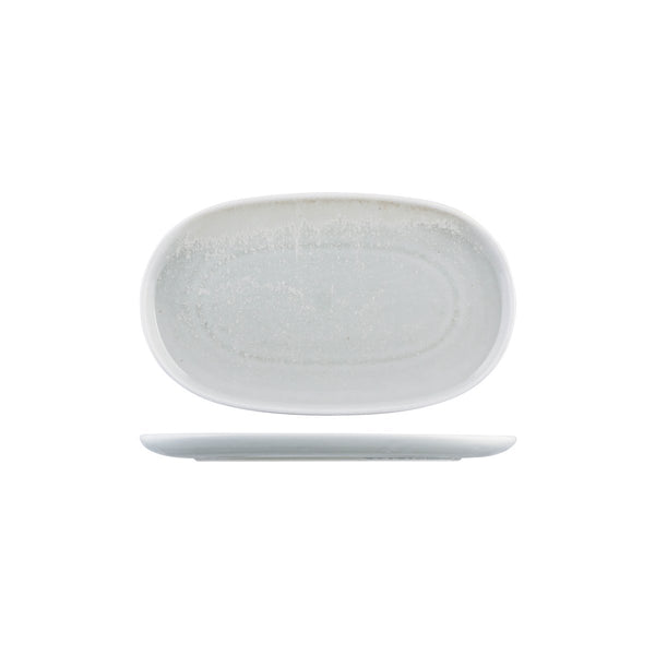926742 Moda Porcelain Willow Oval Coupe Plate Globe Importers Adelaide Hospitality Supplies