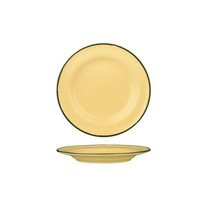 94108-SG Luzerne Tintin Sand Green Round Plate Wide Rim Globe Importers Adelaide Hospitality Supplies