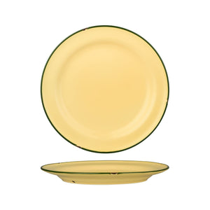 94111-SG Luzerne Tintin Sand Green Round Plate Wide Rim Globe Importers Adelaide Hospitality Supplies