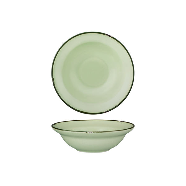 94127-GG Luzerne Tintin Green Green Round Deep Plate / Bowl Globe Importers Adelaide Hospitality Supplies