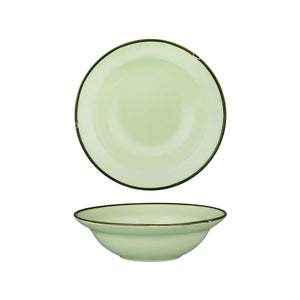 94128-GG Luzerne Tintin Green Green Round Deep Plate / Bowl Globe Importers Adelaide Hospitality Supplies