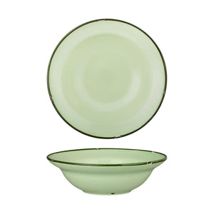 94129-GG Luzerne Tintin Green Green Round Deep Plate / Bowl Globe Importers Adelaide Hospitality Supplies