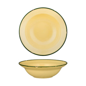TINTIN - SAND / GREEN ROUND DEEP PLATE / BOWL