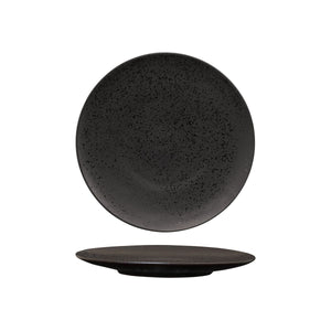 LAVA BLACK ROUND FLAT COUPE PLATE