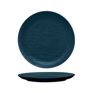 94511-BL Luzerne Linen Navy Blue Round Flat Coupe Plate Globe Importers Adelaide Hospitality Supplies