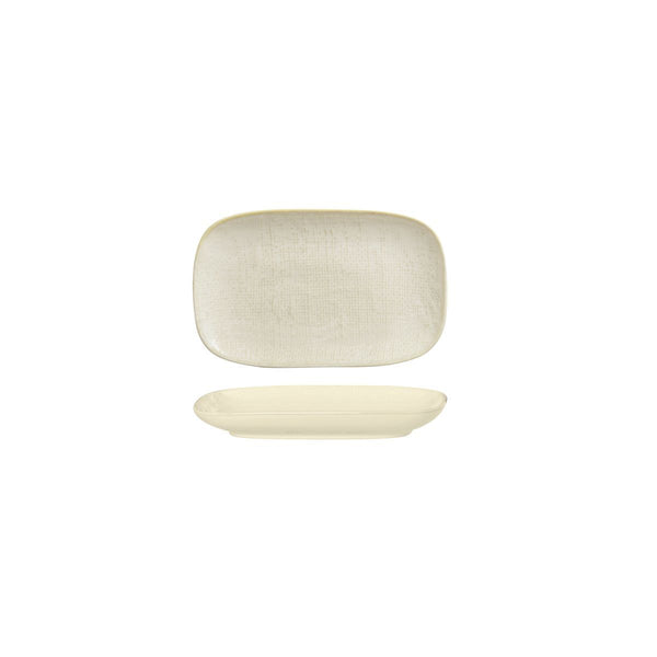 94521-RW Luzerne Linen Reactive White Oblong Plate Globe Importers Adelaide Hospitality Supplies
