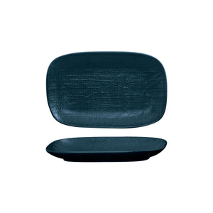 LINEN NAVY BLUE OBLONG PLATE