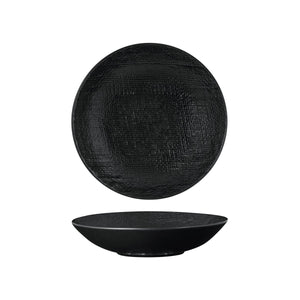 94552-BK Luzerne Linen Black Round Share Bowl Globe Importers Adelaide Hospitality Supplies