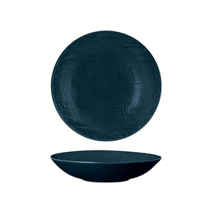 94552-BL Luzerne Linen Navy Blue Round Share Bowl Globe Importers Adelaide Hospitality Supplies