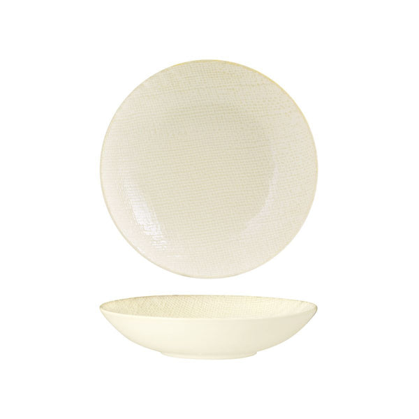 94552-RW Luzerne Linen Reactive White Round Share Bowl Globe Importers Adelaide Hospitality Supplies