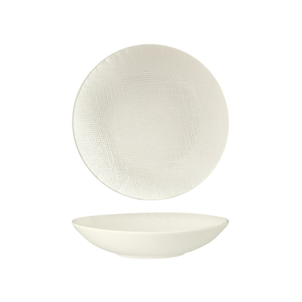 94552-W Luzerne Linen White Round Share Bowl Globe Importers Adelaide Hospitality Supplies