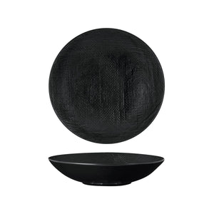94553-BK Luzerne Linen Black Round Share Bowl Globe Importers Adelaide Hospitality Supplies
