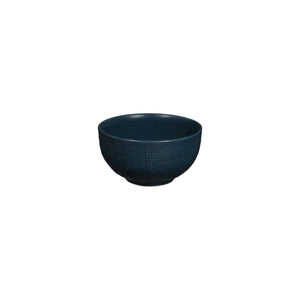 LINEN NAVY BLUE ROUND BOWL
