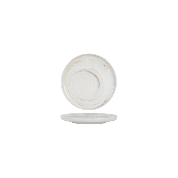 946006 Luzerne Signature Marble Round Plate - Vertical Rim Globe Importers Adelaide Hospitality Supplies