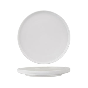 946311 Luzerne Signature White Round Plate - Vertical Rim Globe Importers Adelaide Hospitality Supplies
