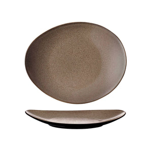 948532 Luzerne Rustic Chestnut Oval Coupe Plate Globe Importers Adelaide Hospitality Supplies
