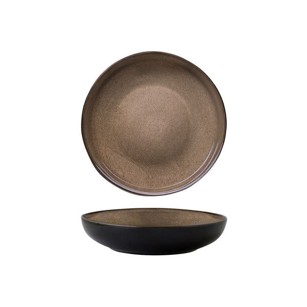 948552 Luzerne Rustic Chestnut Round Share Bowl Globe Importers Adelaide Hospitality Supplies