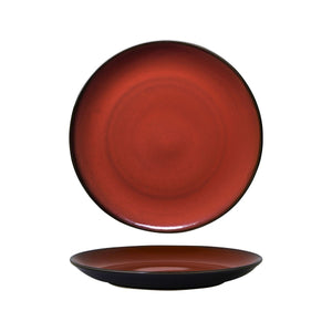 948804 Luzerne Rustic Crimson Round Coupe Plate Globe Importers Adelaide Hospitality Supplies