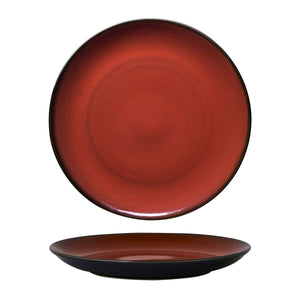 948805 Luzerne Rustic Crimson Round Coupe Plate Globe Importers Adelaide Hospitality Supplies